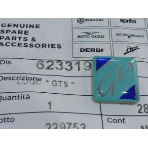 Scudetto Logo Cresta Parafango Cromata Originale Piaggio Vespa GTS 623319