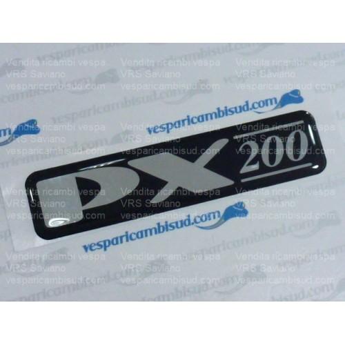 """Targhetta """"PX200"""",cofano per Vespa PX200 E '98"""