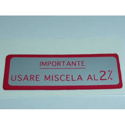 ADESIVO MISCELA 2% ROSSO