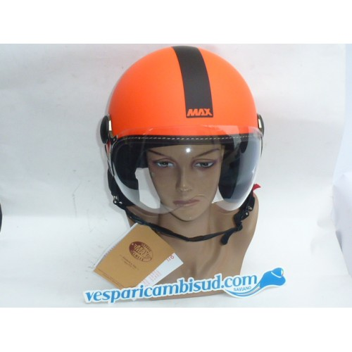 Casco Max Power Arancio opaco-Nero