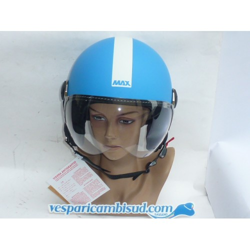 Casco Max Power turchese opaco